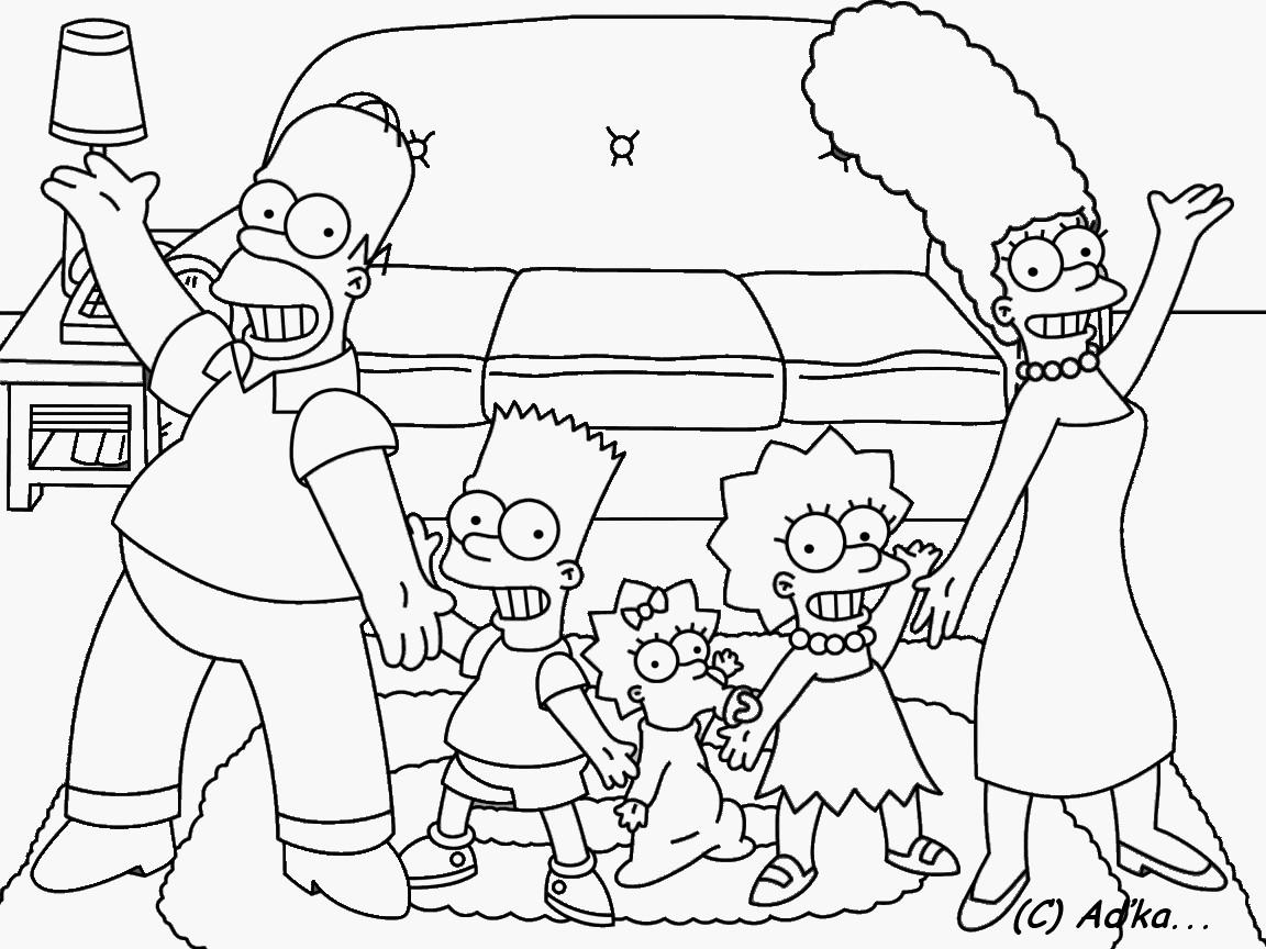 Immagini Da Colorare Simpson: Simpsonovi - Omalovánka 366